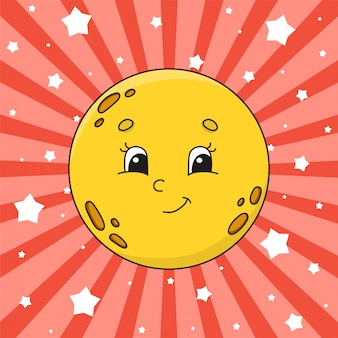 Gele maan.