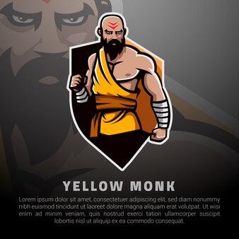 Gele monnik illustratie