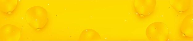 Gele monochromatische achtergrond met gele ballonnen