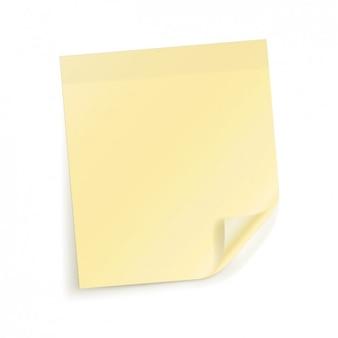 Gele notitie papier