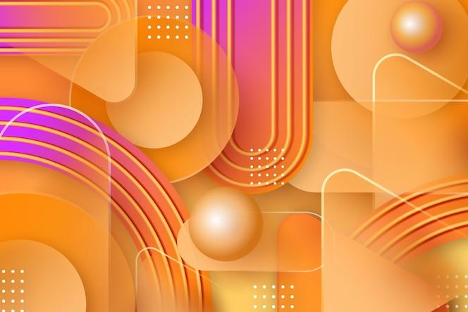 Gele overlappende vormenachtergrond