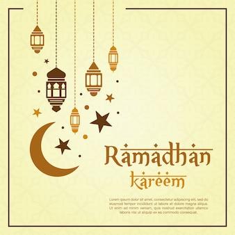 Gele ramadanachtergrond