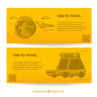 Gele reisbanner