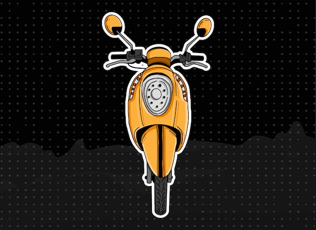 Gele scoopy scooter