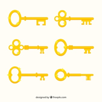 Gele sleutelinzameling