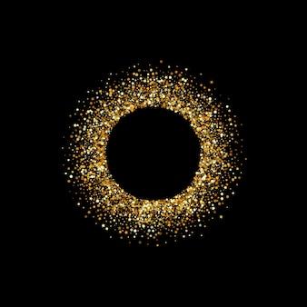 Gele sparkle vector zwarte achtergrond. effect