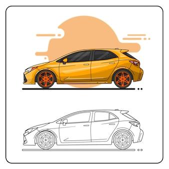 Gele sportwagen
