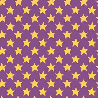 Gele sterren schattig hand getekende vector naadloze patroon happy halloween verpakking inpakpapier