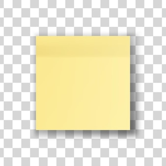 Gele stoknota geïsoleerde illustratie