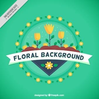 Gele tulpen achtergrond