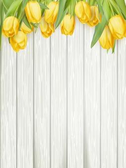 Gele tulpen.