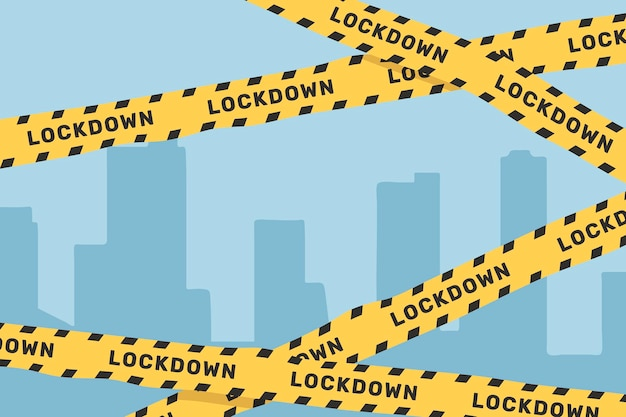 Gele waarschuwingstape voor lockdown