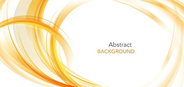 Gele werveling abstracte achtergrond
