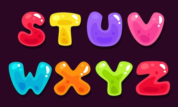 Gelei kleurrijke alfabetten deel 3