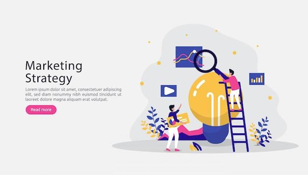 Gelieerde digitale marketing strategie concept. verwijs een vriend met mensenkarakter