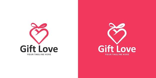 Geliefde cadeau-logo-ontwerpinspiratie