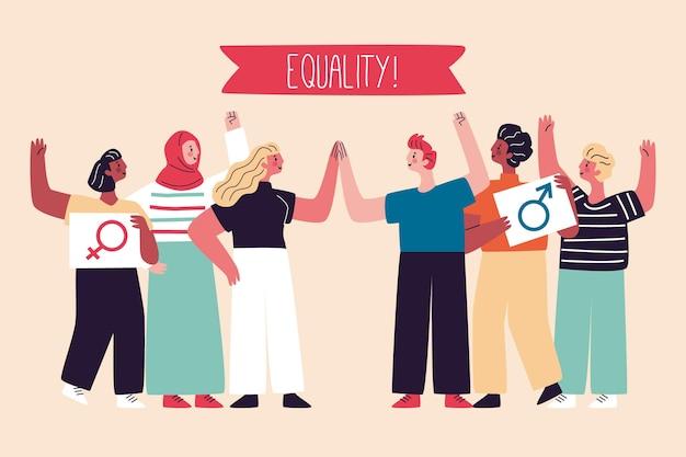 Gelijkheid beweging discriminatie concept