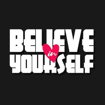 Geloof in jezelf belettering motiverende citaten
