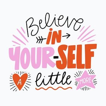 Geloof in jezelf belettering