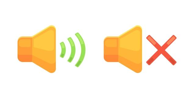 Geluid op pictogram met volumegeluid