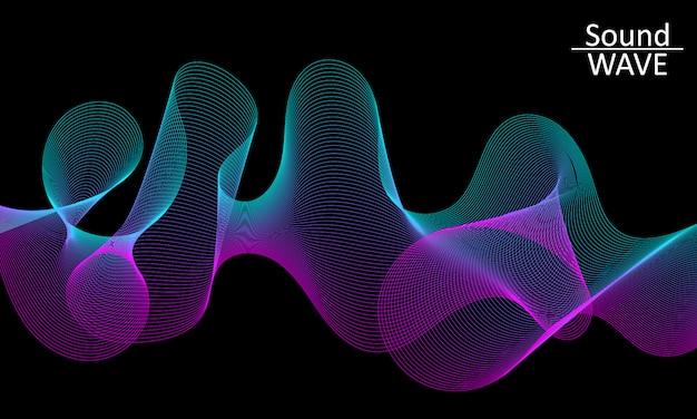 Geluidsgolf. abstracte 3d-vorm. stromen .