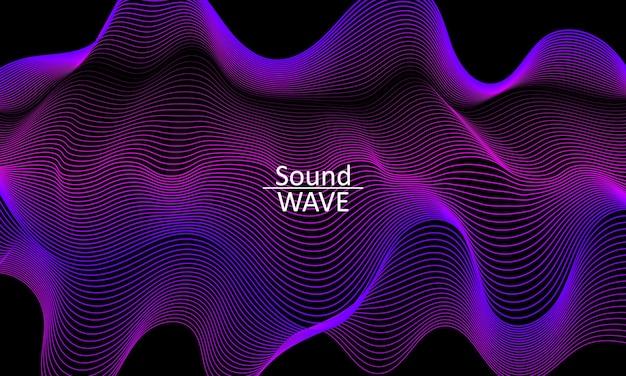 Geluidsgolf. abstracte 3d-vorm. stroomontwerp. moderne vloeibare achtergrond. vloeibare golf. stroomvorm. vloeibare textuur. vloeistofstroom.