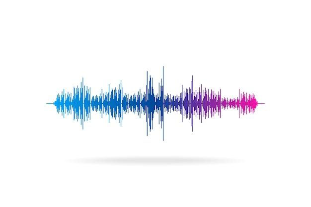 Geluidsgolf abstracte digitale equalizer beweging vector muziek element concept