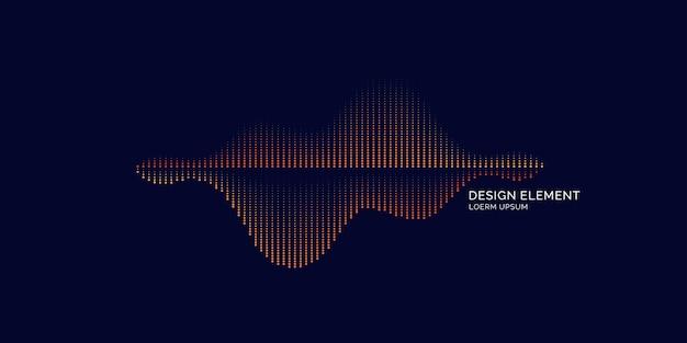 Geluidsgolf-equalizer. moderne vectorillustratie op donkere achtergrond