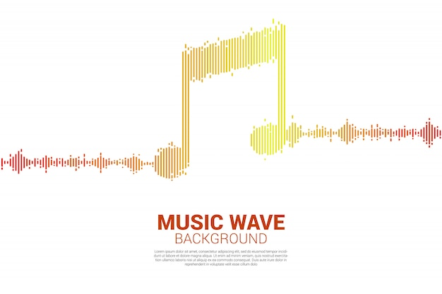 Geluidsgolf muziek equalizer achtergrond.