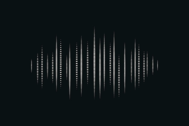 Geluidsgolf zwarte digitale achtergrond entertainmenttechnologie