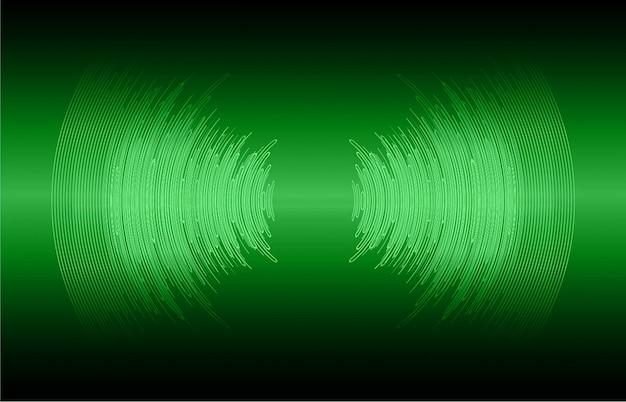 Geluidsgolven die donkergroen licht oscilleren