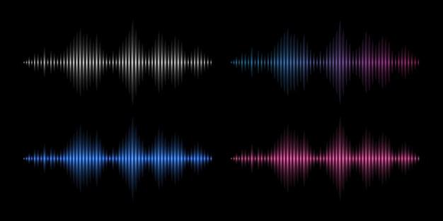 Geluidsgolven. muziekfrequentie, abstracte elektronische soundtrack.