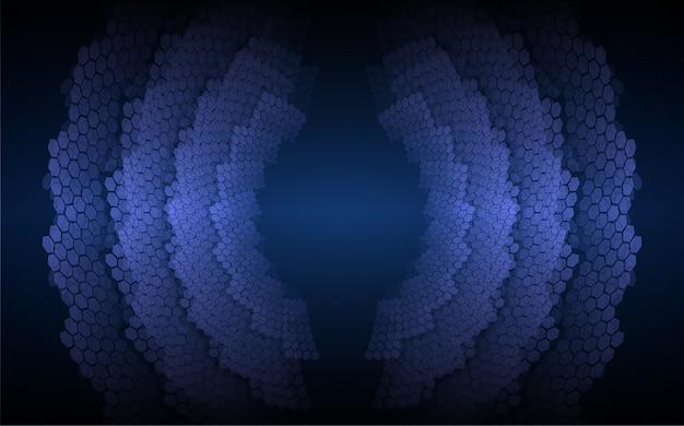 Geluidsgolven oscillerende donkerblauwe lichte achtergrond