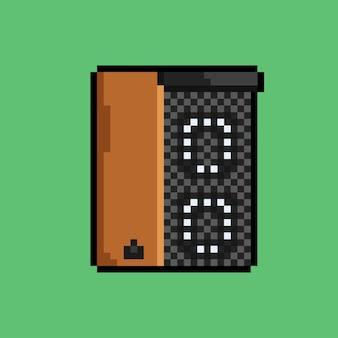 Geluidssysteem met pixelart-stijl