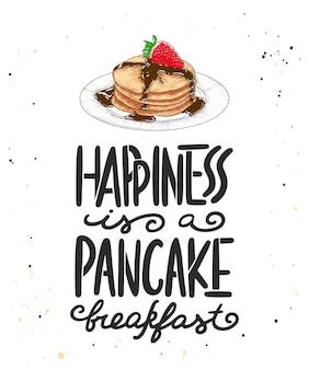 Geluk is een pannenkoekenontbijt met schets