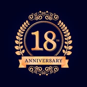 Gelukkig 18 verjaardag achtergrond