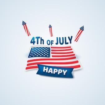 Gelukkig 4 juli. onafhankelijkheidsdag.