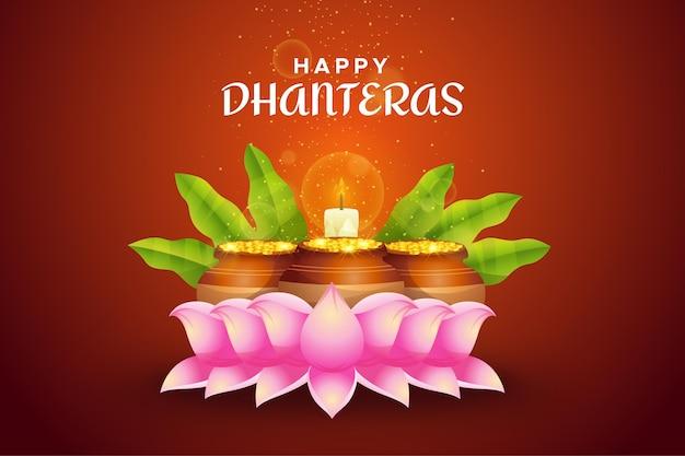 Gelukkig akshaya tritiya traditionele gebeurtenis lotusbloemen