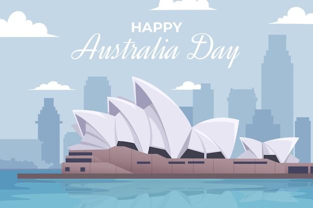Gelukkig australië dag illustratie