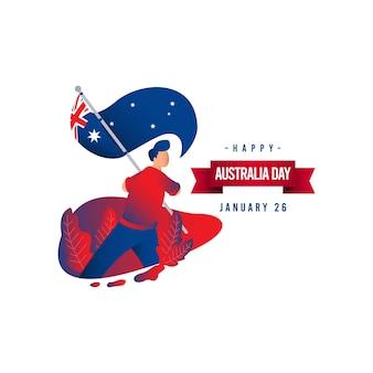 Gelukkig australië dag vector sjabloon. ontwerp voor digitale banner of print.