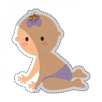 Gelukkig baby pictogramafbeelding