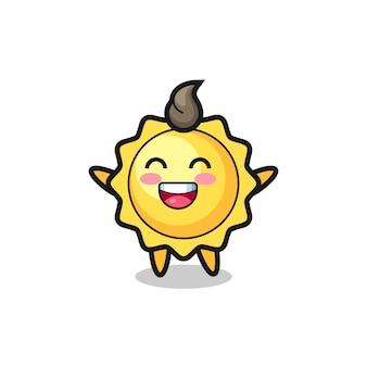 Gelukkig baby zon stripfiguur