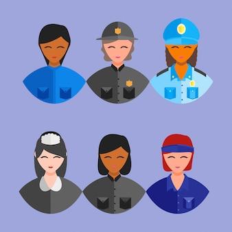 Gelukkig beroep werknemer dag 1 kan vrouwen pictogram gebruiken
