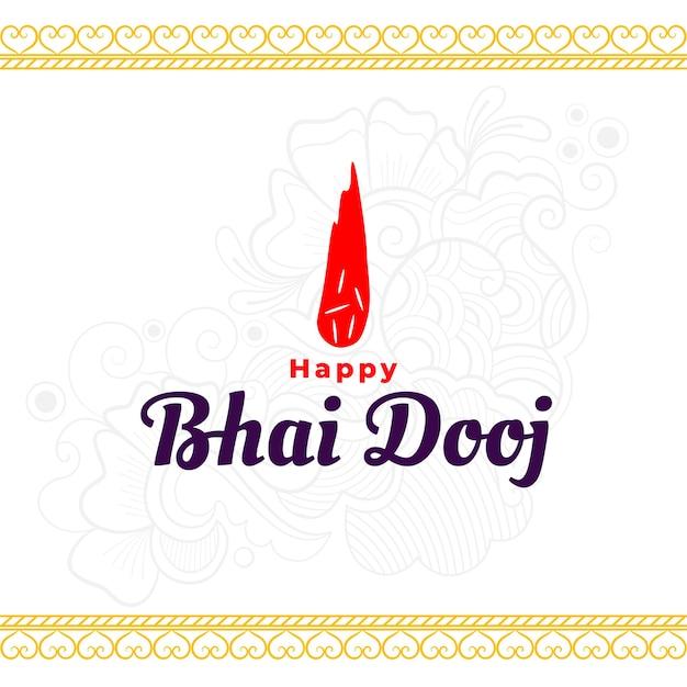 Gelukkig bhai dooj traditionele indiase achtergrond
