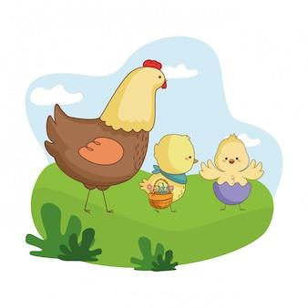 Gelukkig boerderijdieren cartoon