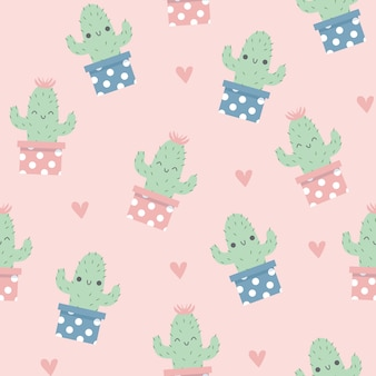 Gelukkig cactuspatroon