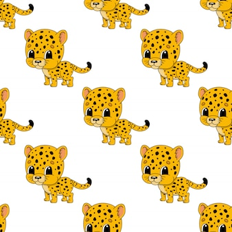 Gelukkig cheetah naadloos patroon