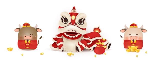 Gelukkig chinees nieuwjaar cartoon afbeelding