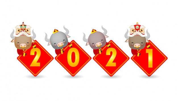 Gelukkig chinees nieuwjaar, het jaar van de osdierenriem