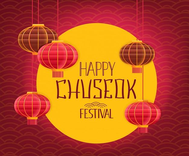 Gelukkig chuseok-festival.